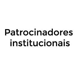 Patrocinadores institucionais